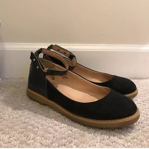 Topshop Sunny Ankle Strap flats, 7.5